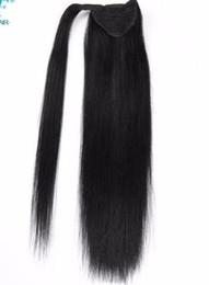 Hair Colors Australia - 2019 Straight Ponytail Human All Colors European Remy Human Hair Ponytail Extensions Tail Of Human Natural Ponytails