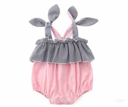 $enCountryForm.capitalKeyWord UK - INS baby kids Girl clothing romper 100% cotton Suspender With Bow design Summer Lolita romper