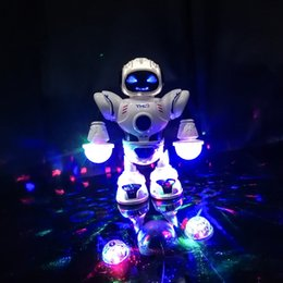 $enCountryForm.capitalKeyWord Australia - 2019 New Kids Electronic Smart Space Dancing Robot with Music Flashing LED Light Walking Toys Christmas New Year Gift For Child