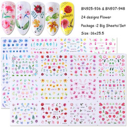 $enCountryForm.capitalKeyWord Australia - See_Katy 24 Styles Of Floral Watermark Nail Art Stickers Decals Painted Patterns Nail Art Decorative Nail Stickers SMJ0044