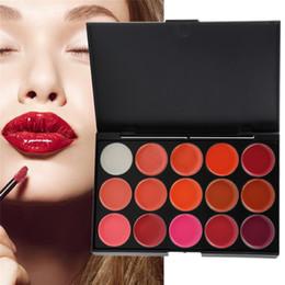 $enCountryForm.capitalKeyWord NZ - Multi-colored 15 Colors Makeup Palette Sexy Long Lasting Waterproof Lip Gloss Cosmetic Gloss Lipstick Lip of One Set