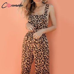 $enCountryForm.capitalKeyWord Australia - Conmoto Trendy Backless Harem Leopard Print Jumpsuit Women Long Rompers Sexy Club Casual Overalls Q190507