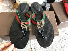 wedding thongs 2020 - Leather Thong Sandal Women Men Luxury Desinger Slippers Fashion Thin Black Flip Flops Brand Shoe Ladie Beige Shoes Sanda