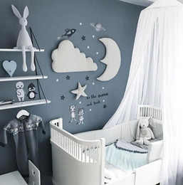 $enCountryForm.capitalKeyWord Australia - One Set Ins Style Moon Cloud Star Kids Play Decoration Tent Props Baby Bed Room Hanging Decor Wall Stickers White Gray Q190610