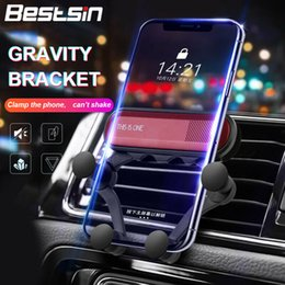 Wholesale Unique Gravity Car Cell Phone Holder Smartphone Smile Clip Stand Universal Car Air Vent Mount GPS Bracket for Iphone Samsung Xiaomi