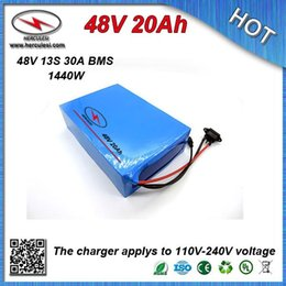 Cheap Battery Free Shipping Australia - Cheap Price PVC cased Electric E Bike Scooter Battery 48V 20Ah built in 18650 cell 30A BMS + 54.6V 2A Charger FREE SHIPPING
