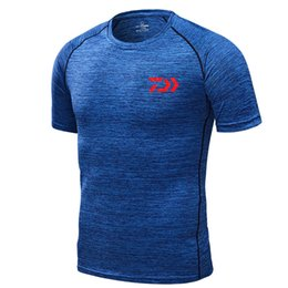short sleeve breathable fishing shirts 2020 - T Shirt Quick Drying Short Sleeve Breathable Anti-UV Fishing Shirt Outdoor Sports Clothing Men T-Shirt Fishing Clothes c