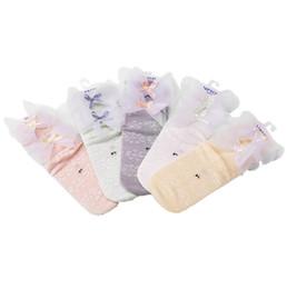 $enCountryForm.capitalKeyWord UK - Girls short socks kids lace Bows applique princess socks children lace hollow knitted ankler socks girl cotton breathable sock F8083