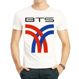 56add6ace9 Bts T Shirt Print Australia - Bangtan t shirt BTS group short sleeve tops  JBulletproof boy
