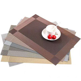 $enCountryForm.capitalKeyWord UK - Home Placemats Woven Winyl Table mat Optional color Dining disc pads coasters 30x45cm Washable Table Place mats Dining Table mats