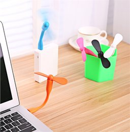 Gadgets For Office Australia - USB Mini Fan Office gifts Gadgets Flexible USB Portable Mini Fans fridge cooler For Xiaomi Power Bank Notebook Laptop Computer Power-saving