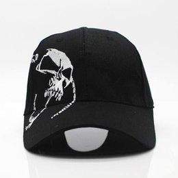 $enCountryForm.capitalKeyWord NZ - Fashion High Quality Unisex 100 %Cotton Outdoor Baseball Cap Skull Embroidery Snapback Fashion Sports Hats For Men &Women Cap
