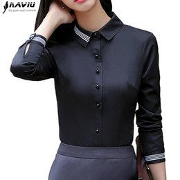$enCountryForm.capitalKeyWord NZ - Fashion Women Clothes Cotton Long Sleeve Shirt 2018 New Autumn Black Slim Blouse Office Ladies Business Plus Size Formal Tops Y190822