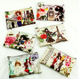 urban phone UK - Eiffel Tower   Big Ben   Urban Girl Print Lady Coin Key   Phone Coin Zip Pouch