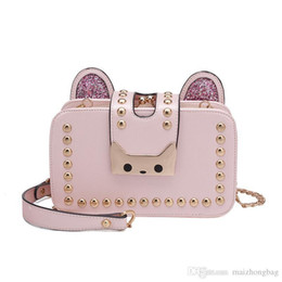 $enCountryForm.capitalKeyWord Australia - Nice New Korean Version Of The Womens Rivets Messenger Bag Sprouts Kitten Shoulder Bag Chain Package Low-cost Tied