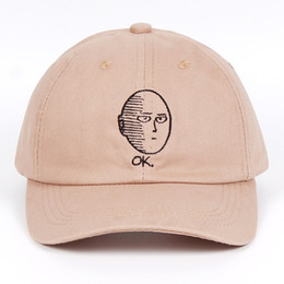 funny baseball Australia - ONE PUNCH-MAN Dad Hat 100% Cotton baseball cap Anime fan embroidery funny Hats for Women Men ok Man One Punch Man Snapback