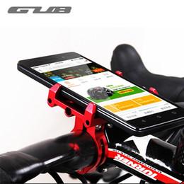 "Phone Holders For Bikes Australia - GUB Aluminum 3.5-6.2"" Cell Phone Holder For Bike Adjustable Bicycle Rack Cycling Mount MTB Road Bike Handlebar Phone Holder Rack #80275"