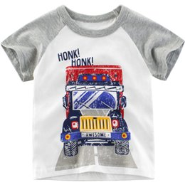 $enCountryForm.capitalKeyWord Australia - Newly Cotton T Shirt for Baby Boys Girls Summer Short Sleeve Soft T-shirts Breathable Kids Round Neck Casual Tee Tops Daily Clothing