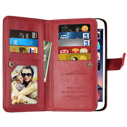 metal case credit cards Canada - wholesale For Samsung A5 2017 Case 9 Credit Card Slot Wallet Leather Cases For Samsung Galaxy A5 A3 A7 2017 Case A520 A720 A320