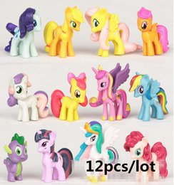 $enCountryForm.capitalKeyWord Australia - 12 Pcs set 3-5cm My Cute Pvc Lovely Little Ponis Horse Action Toy Figures Dolls For Girl Birthday Christmas Gift