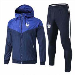 $enCountryForm.capitalKeyWord Australia - 18 19 top PSG hooded jacket Windbreaker MBAPPE zipper tracksuit Man City soccer training suit Man united dust-proof PSG Windproof coat