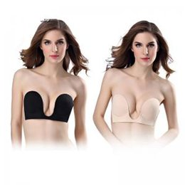 73d818de75 Bra deep front online shopping - Invisible Bra Strapless Deep U Bras Push  Up U shape