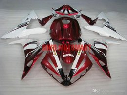 r1 tank UK - Full tank Fairing kit for YAMAHA YZFR1 04 05 06 YZF R1 2004 2005 2006 YZF1000 ABS Red white Fairings set+gifts YD20