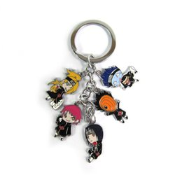 $enCountryForm.capitalKeyWord NZ - Anime Naruto Akatsuki Metal Keychain with Deidara Sasori Obito Itachi Kisame Pendants for Cosplay Accessories Gift