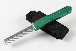 Knife combs online shopping - High Quality A5 Automatic Comb CR13 Blade Green Aluminum alloy Hanldle Best Collection Gift no offensive blade P903M Q