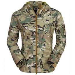 Skin Jacket Brown UK - Lurker Shark skin Soft Shell TAD V 4.0 uniform Tactical Softshell Jacket Waterproof Wind protection warmth coats
