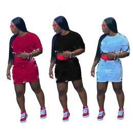 $enCountryForm.capitalKeyWord NZ - Dew Waist Women 2 Piece Summer Outfits Summer Sexy Print Short Sleeve Plus Size 2pcs Sets Panelled Ladies Designer Skirts