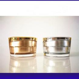 Acrylic Eye Cream Jar Australia - 15g Acrylic Silver Gold Round crystal Cream Jars Empty cosmetic Cream bottle container Cosmetic eye cream Jar F3000