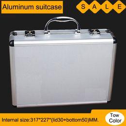 Magic Handle Australia - box aluminium tool case magic props file storage Hard carrying box Hand Gun case Locking Pistol with foam 33*24*9.5CM