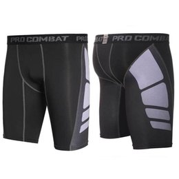 compression short soccer NZ - Men Pro Compression Quick Dry Gym Train Run Workout Sport Beach Shorts For Fitness Board Basketball Soccer Exercise Yoga UXS T200412