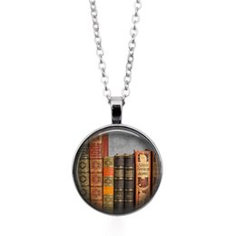 book necklaces NZ - New Design Creative Vintage Library and Books Time Fashion Silver Necklace Pendant Jewelry Gift Delicate