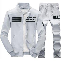 $enCountryForm.capitalKeyWord NZ - Zipper Jacket+Pant Polo Set 2019 Casual Men Sporting Suit Hoodie Men's Tracksuit Sweatshirt Male Two Pieces Set Y866