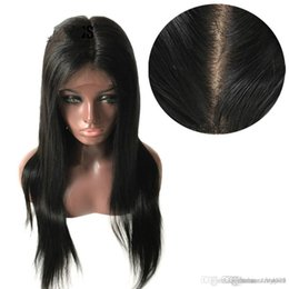 $enCountryForm.capitalKeyWord NZ - Silk Base Full Hair Wigs with Pre Plucked Straight Brazilian Remy Hair Natural Color Free Part+wig Net