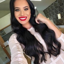 16 inch human hair wig 2019 - Body Wave U Part Human Hair Wig 100% Brazilian Hair Natural Color Middle 2*4 Inches Size Long Wavy Wigs Women discount 1