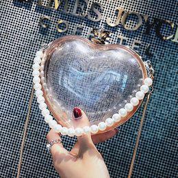 Heart Shaped Handbags Wholesale Australia - MOLAVE Handbags fashion bags for Women 2019 Pearl heart-shaped Crossbody Bag Waterproof Diamond Chain handbag Chains package9515