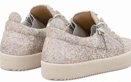 Опт 2019 Италия Роскошные Zanotti Соответствующие Молнии Мужчины Женщины Низкие Плоские Туфли Натуральная Кожа Мужская Обувь Дизайнерские Кроссовки Кроссовки
