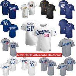5XL Dodgers 2020 Mookie Betts Bellinger Kershaw Justin Turner Alex Enrique Hernandez Verdugo AJ Pollock Max hommes Muncy Jersey femmes jeunes en Solde