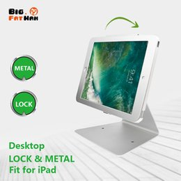 ipad anti theft UK - Desktop Holder For iPad 10.2'' air 3 Pro10.5''& 9.7'' Anti-theft Stand Enclosure Security with key tablet holder Flip Multi-angle box