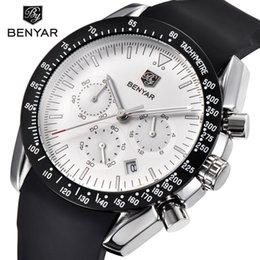 Luxury Quartz Sinobi Wrist Watch Australia - Benyar Men Watch Top Brand Luxury Male Silicone Strap Waterproof Sport Quartz Chronograph Military Wrist Watch Men Clock Relogio Y19052103