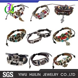 rivets accessories 2020 - JTHY005 Yiwu Huilin Jewelry Multi-layer beads of beaded cat eye stone riveted music symbol accessories hand-woven punk b