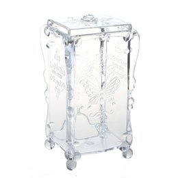 $enCountryForm.capitalKeyWord Canada - swab Organizer cotton pad box jewelry box Jewelry Cosmetic Case Acrylic