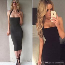 $enCountryForm.capitalKeyWord Australia - Fashion Black Cocktail Party Dresses For Little girl Junior Short Prom Dress 2019 Bandage Halter Tea Length Holiday Cheap Stock Gown