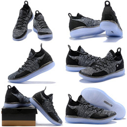 $enCountryForm.capitalKeyWord Australia - 2019 Arrival KD XI 11 EP Oreo Ice Blue Sports Kids Basketball Shoes Top quality Mens Kevin Durant 11s Trainers Designer Sneakers