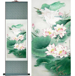 $enCountryForm.capitalKeyWord Australia - Water Lily Flower Art Painting Home Office Decoration Chinese Scroll Painting Flower Art Painting Chinese Painting2019061439