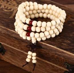 Sandalwood Bracelet Mala Australia - Beaded Newest buddha to buddha 108*8mm Natural Sandalwood Buddhist Buddha Meditation Wood Prayer Bead Mala Bracelet Women Men Jewelry