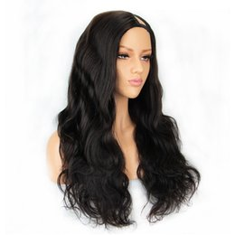 """$enCountryForm.capitalKeyWord Australia - 130% density U Part Human Hair Wigs For Women Water Wave 100% Brazilian Remy Hair Middle Part 2*4 """"Natural Color can be dyed"""